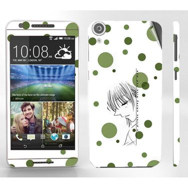 Snooky 38937 Digital Print Mobile Skin Sticker For HTC Desire 820 - White