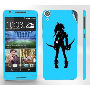 Snooky 38938 Digital Print Mobile Skin Sticker For HTC Desire 820 - Blue
