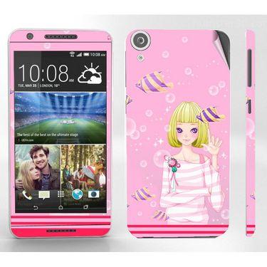Snooky 38940 Digital Print Mobile Skin Sticker For HTC Desire 820 - Pink