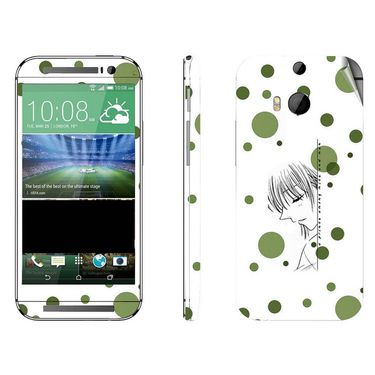Snooky 38949 Digital Print Mobile Skin Sticker For HTC One M8 - White