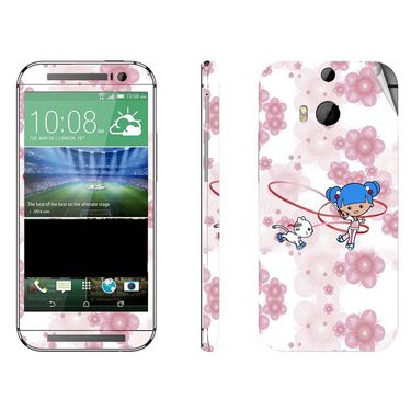 Snooky 38956 Digital Print Mobile Skin Sticker For HTC One M8 - White