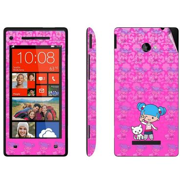Snooky 38967 Digital Print Mobile Skin Sticker For HTC 8X - Pink