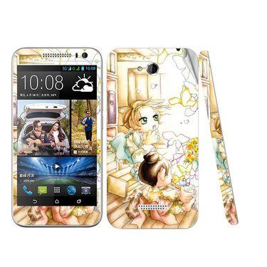 Snooky 38969 Digital Print Mobile Skin Sticker For HTC Desire 616 - White