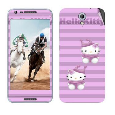 Snooky 38983 Digital Print Mobile Skin Sticker For HTC Desire 820 mini - Purple