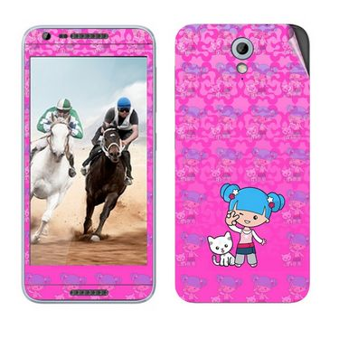 Snooky 38991 Digital Print Mobile Skin Sticker For HTC Desire 820 mini - Pink