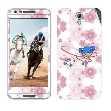 Snooky 38992 Digital Print Mobile Skin Sticker For HTC Desire 820 mini - White