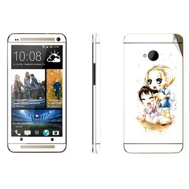 Snooky 39013 Digital Print Mobile Skin Sticker For HTC One M7 - White