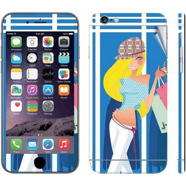 Snooky 39071 Digital Print Mobile Skin Sticker For Apple Iphone 6 - Blue
