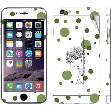 Snooky 39081 Digital Print Mobile Skin Sticker For Apple Iphone 6 Plus - White
