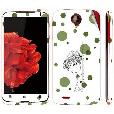 Snooky 39105 Digital Print Mobile Skin Sticker For Lenovo S820 - White