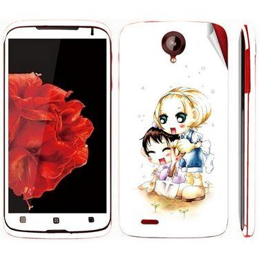 Snooky 39109 Digital Print Mobile Skin Sticker For Lenovo S820 - White