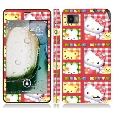 Snooky 39126 Digital Print Mobile Skin Sticker For Lenovo K860 - Pink