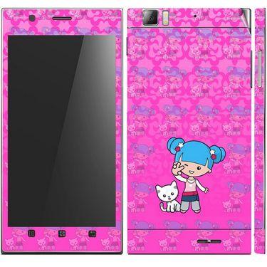 Snooky 39147 Digital Print Mobile Skin Sticker For Lenovo K900 - Pink