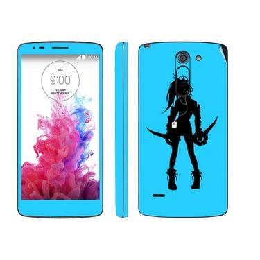 Snooky 39154 Digital Print Mobile Skin Sticker For LG G3 Stylus - Blue