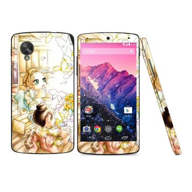 Snooky 39161 Digital Print Mobile Skin Sticker For LG Google Nexus 5 - White