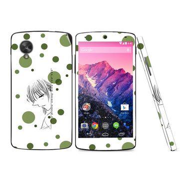 Snooky 39165 Digital Print Mobile Skin Sticker For LG Google Nexus 5 - White