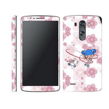 Snooky 39184 Digital Print Mobile Skin Sticker For LG G3 - White
