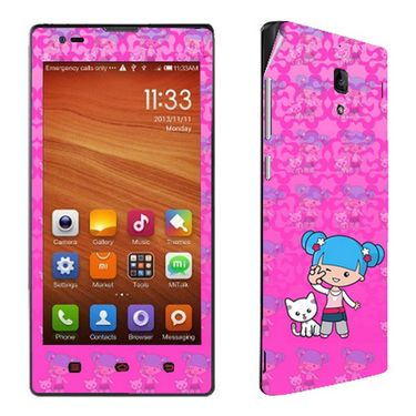 Snooky 39219 Digital Print Mobile Skin Sticker For Xiaomi Redmi 1s - Pink