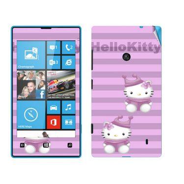 Snooky 39235 Digital Print Mobile Skin Sticker For Nokia Lumia 520 - Purple