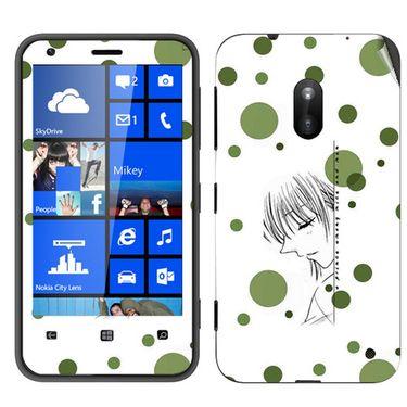 Snooky 39249 Digital Print Mobile Skin Sticker For Nokia Lumia 620 - White