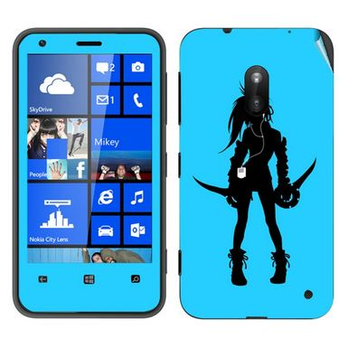 Snooky 39250 Digital Print Mobile Skin Sticker For Nokia Lumia 620 - Blue