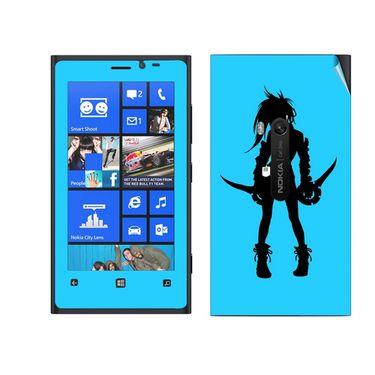 Snooky 39274 Digital Print Mobile Skin Sticker For Nokia Lumia 920 - Blue