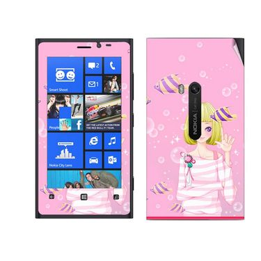 Snooky 39276 Digital Print Mobile Skin Sticker For Nokia Lumia 920 - Pink
