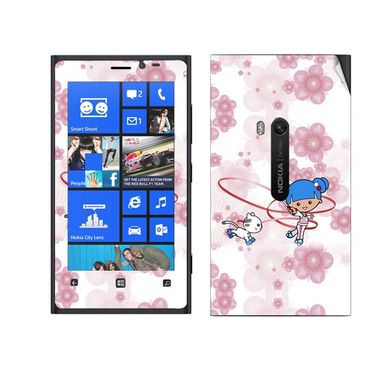 Snooky 39280 Digital Print Mobile Skin Sticker For Nokia Lumia 920 - White