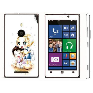 Snooky 39289 Digital Print Mobile Skin Sticker For Nokia Lumia 925 - White