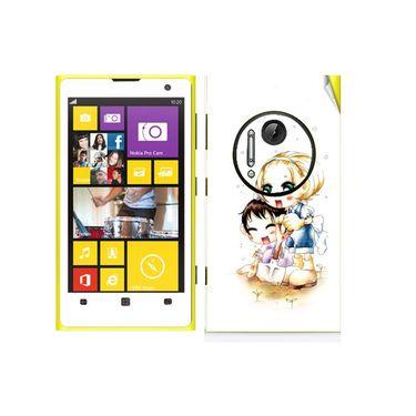 Snooky 39301 Digital Print Mobile Skin Sticker For Nokia Lumia 1020 - White