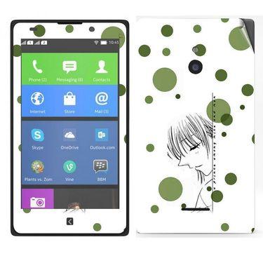 Snooky 39309 Digital Print Mobile Skin Sticker For Nokia XL - White