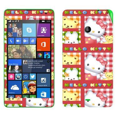 Snooky 39330 Digital Print Mobile Skin Sticker For Microsoft Lumia 535 - Pink
