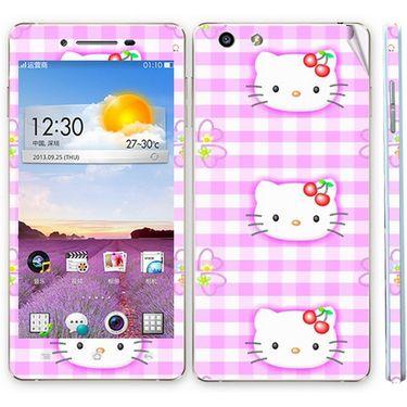 Snooky 39380 Digital Print Mobile Skin Sticker For OPPO R1 R829t  - Pink
