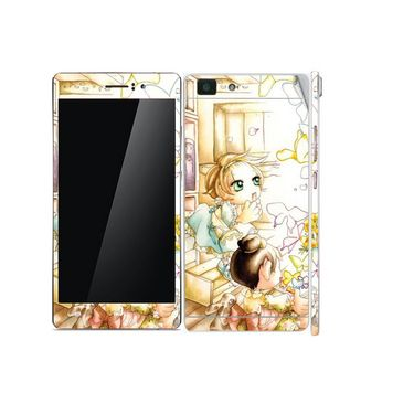 Snooky 39389 Digital Print Mobile Skin Sticker For OPPO R5 - White