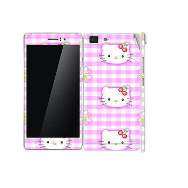 Snooky 39392 Digital Print Mobile Skin Sticker For OPPO R5 - Pink