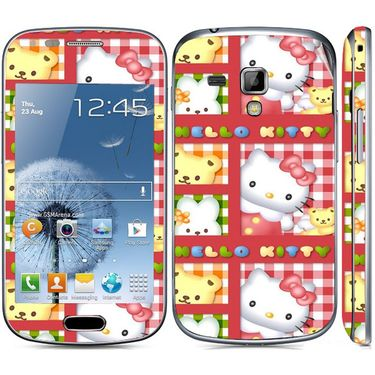 Snooky 39402 Digital Print Mobile Skin Sticker For Samsung Galaxy S Duos 7562 - Pink