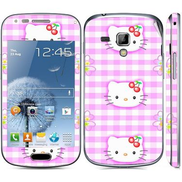 Snooky 39404 Digital Print Mobile Skin Sticker For Samsung Galaxy S Duos 7562 - Pink