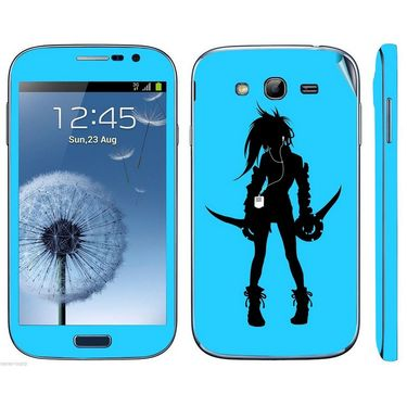Snooky 39430 Digital Print Mobile Skin Sticker For Samsung Galaxy Grand Duos I9082 - Blue