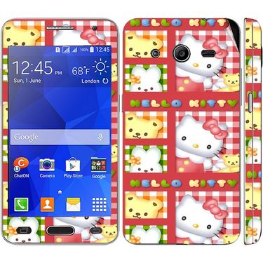 Snooky 39438 Digital Print Mobile Skin Sticker For Samsung Galaxy Core 2 G355h - Pink