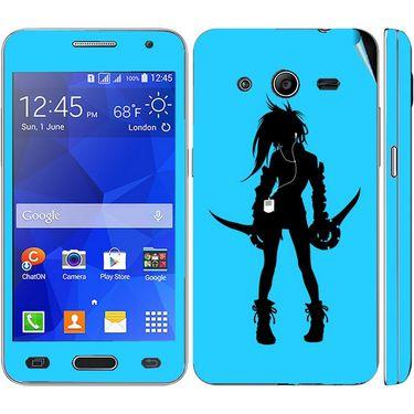 Snooky 39442 Digital Print Mobile Skin Sticker For Samsung Galaxy Core 2 G355h - Blue