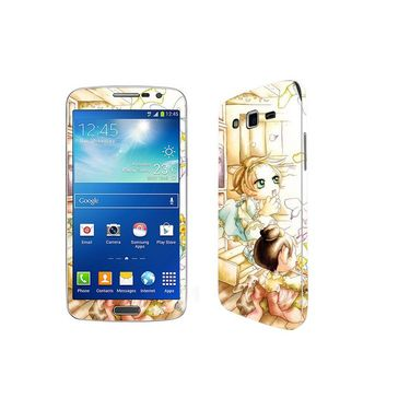 Snooky 39449 Digital Print Mobile Skin Sticker For Samsung Galaxy Grand 2 G7102 - White