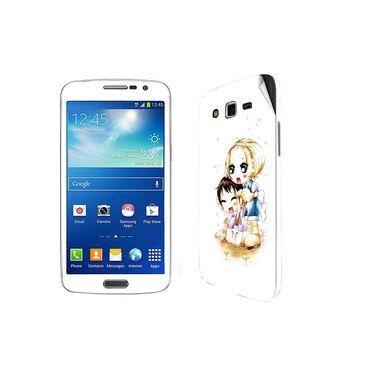 Snooky 39457 Digital Print Mobile Skin Sticker For Samsung Galaxy Grand 2 G7102 - White