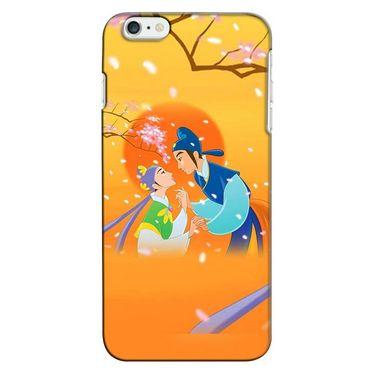 Snooky 35237 Digital Print Hard Back Case Cover For Apple iPhone 6 Plus - Orange