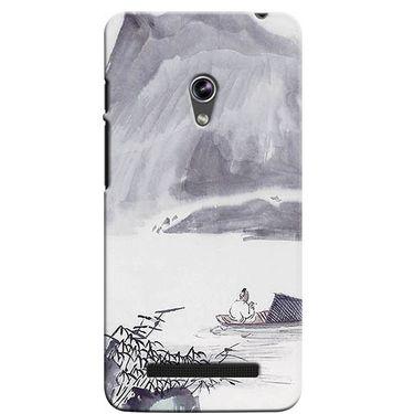 Snooky 36095 Digital Print Hard Back Case Cover For Asus Zenphone 5 - Grey