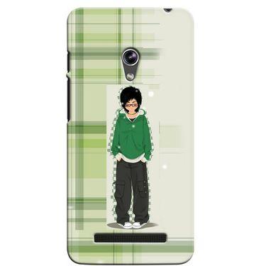 Snooky 36105 Digital Print Hard Back Case Cover For Asus Zenphone 5 - Green