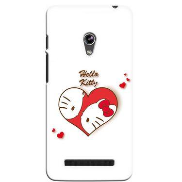 Snooky 36130 Digital Print Hard Back Case Cover For Asus Zenphone 5 - White