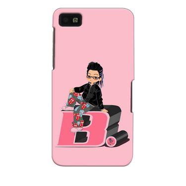 Snooky 35345 Digital Print Hard Back Case Cover For Blackberry Z10 - Pink