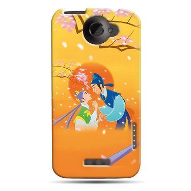 Snooky 37218 Digital Print Hard Back Case Cover For HTC ONE X S720E - Orange