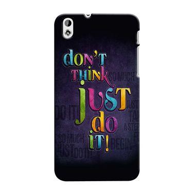 Snooky 37291 Digital Print Hard Back Case Cover For HTC Desire 816 - Black
