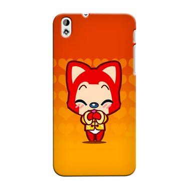 Snooky 37311 Digital Print Hard Back Case Cover For HTC Desire 816 - Orange